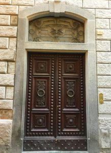 Paneled doorway in Orvieto