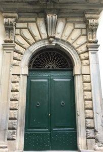 Green doorway in Orvieto