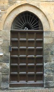 Orvieto door with dark brown panels