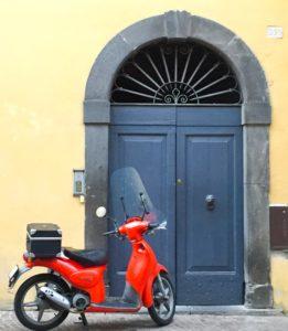 Orvieto doorway with red scooter