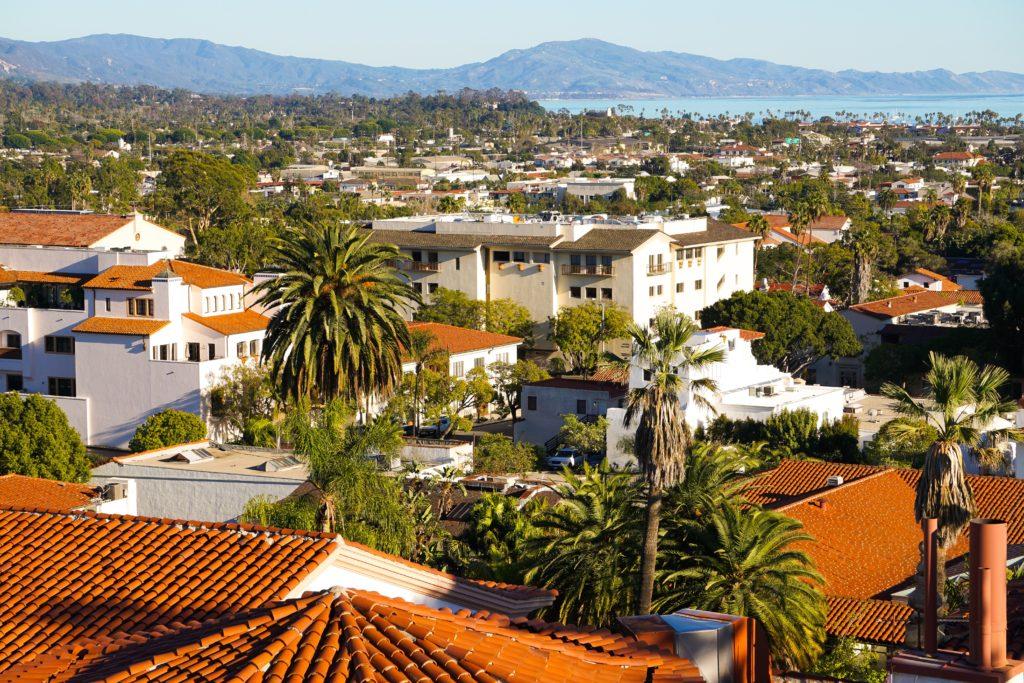 Ocean View Santa Barbara Courthouse Clock Tower