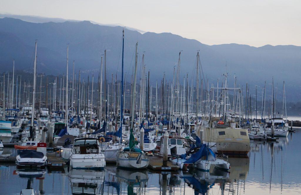 Boats in the Santa Barbara Harbor