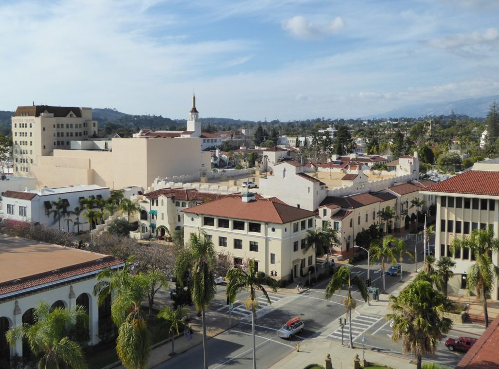View from the Santa Barbara Courthouse Clock Tower