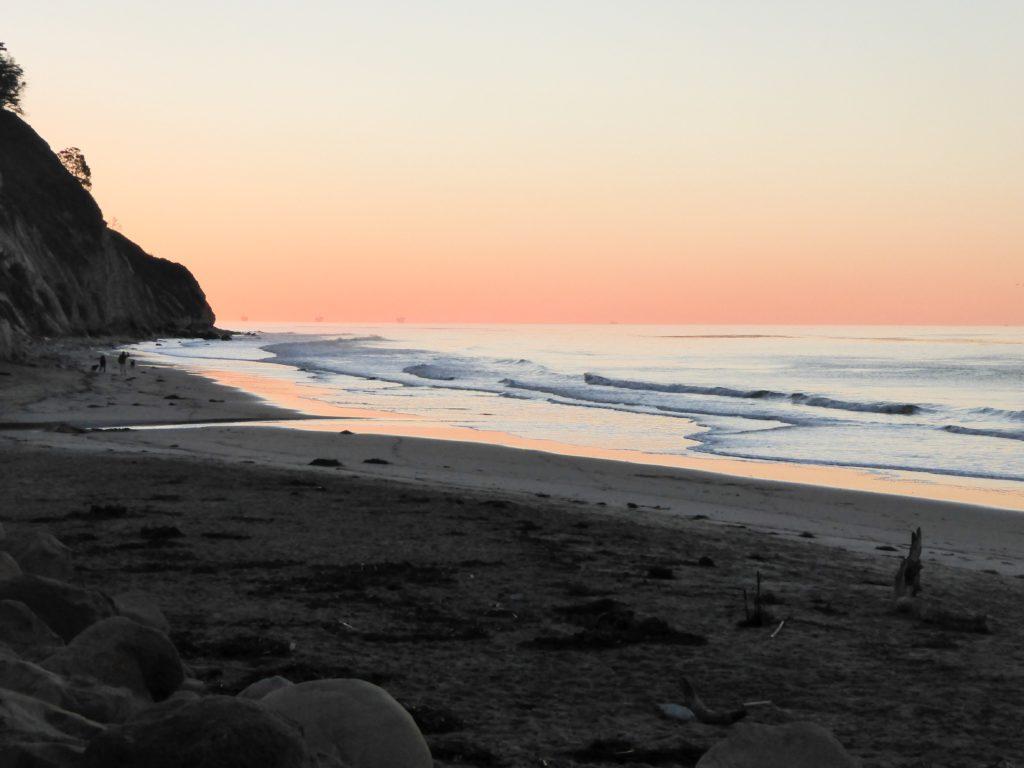 Hendry's Beach Santa Barbara at Sunrise
