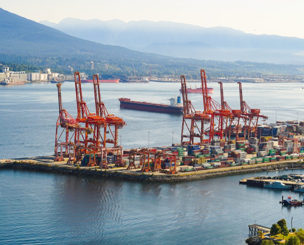 Cargo in Water -- View from Vancouver Lookout