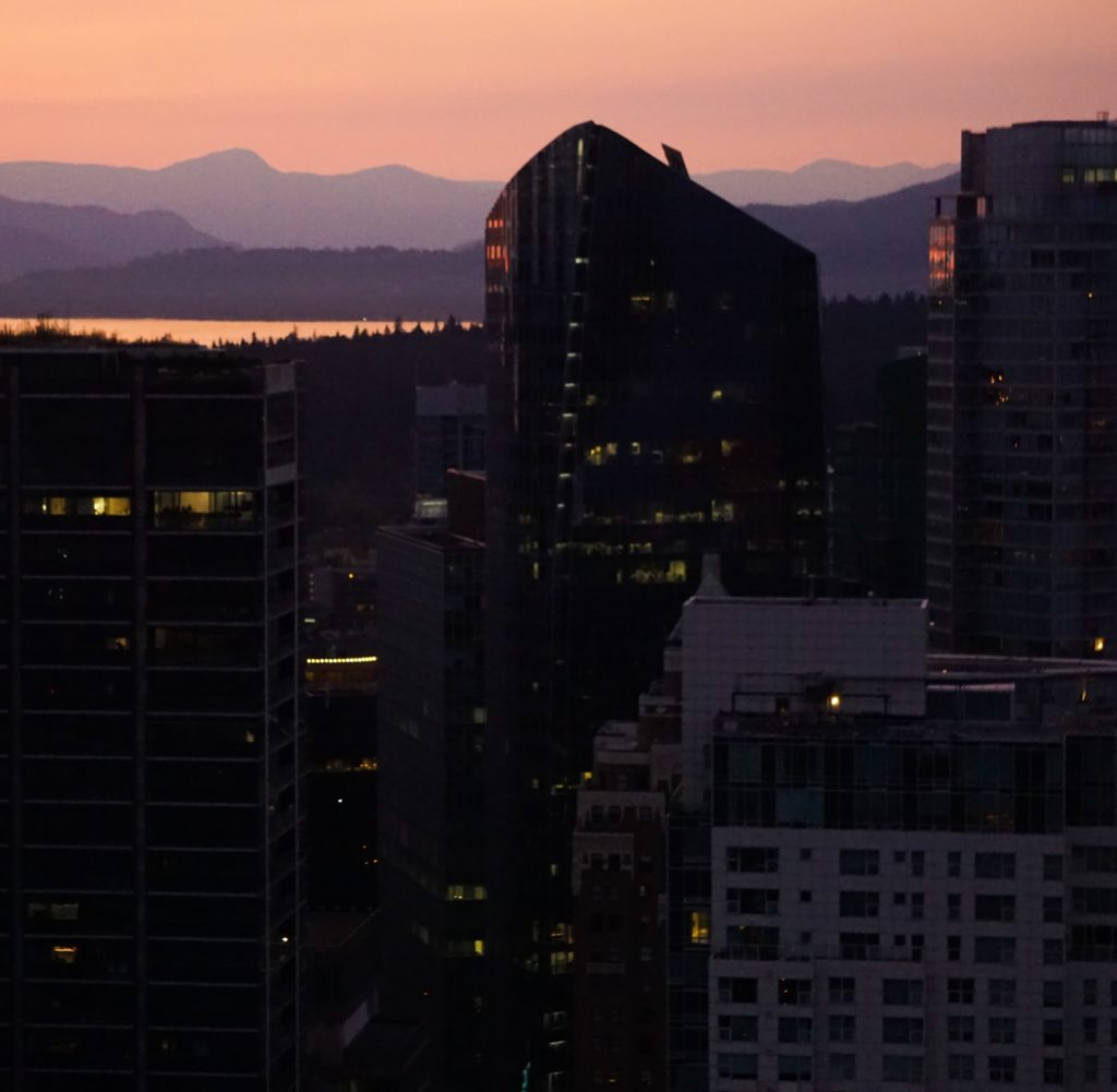 Sunset in Vancouver -- View from the Vancouver Lookout