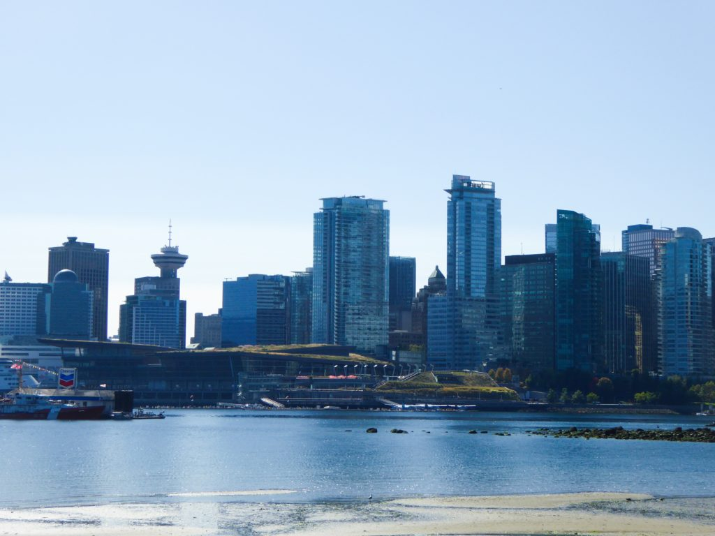 View of Vancouver Skyline from Seawall