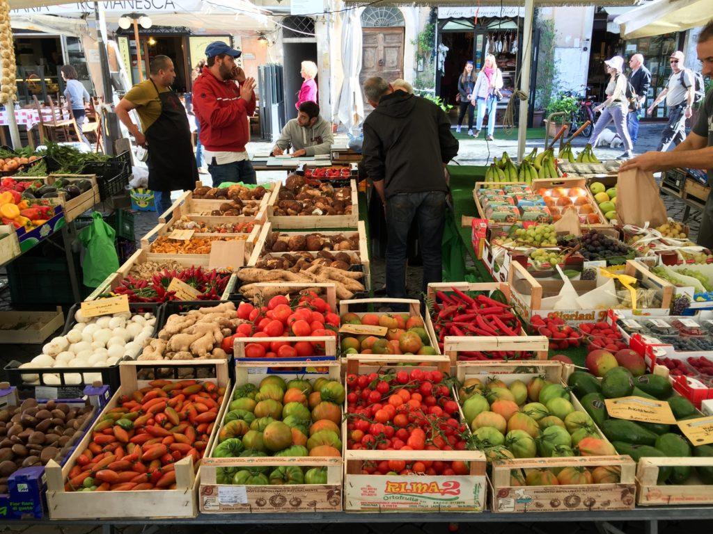 Morning Market Camp de'Fiori Rome