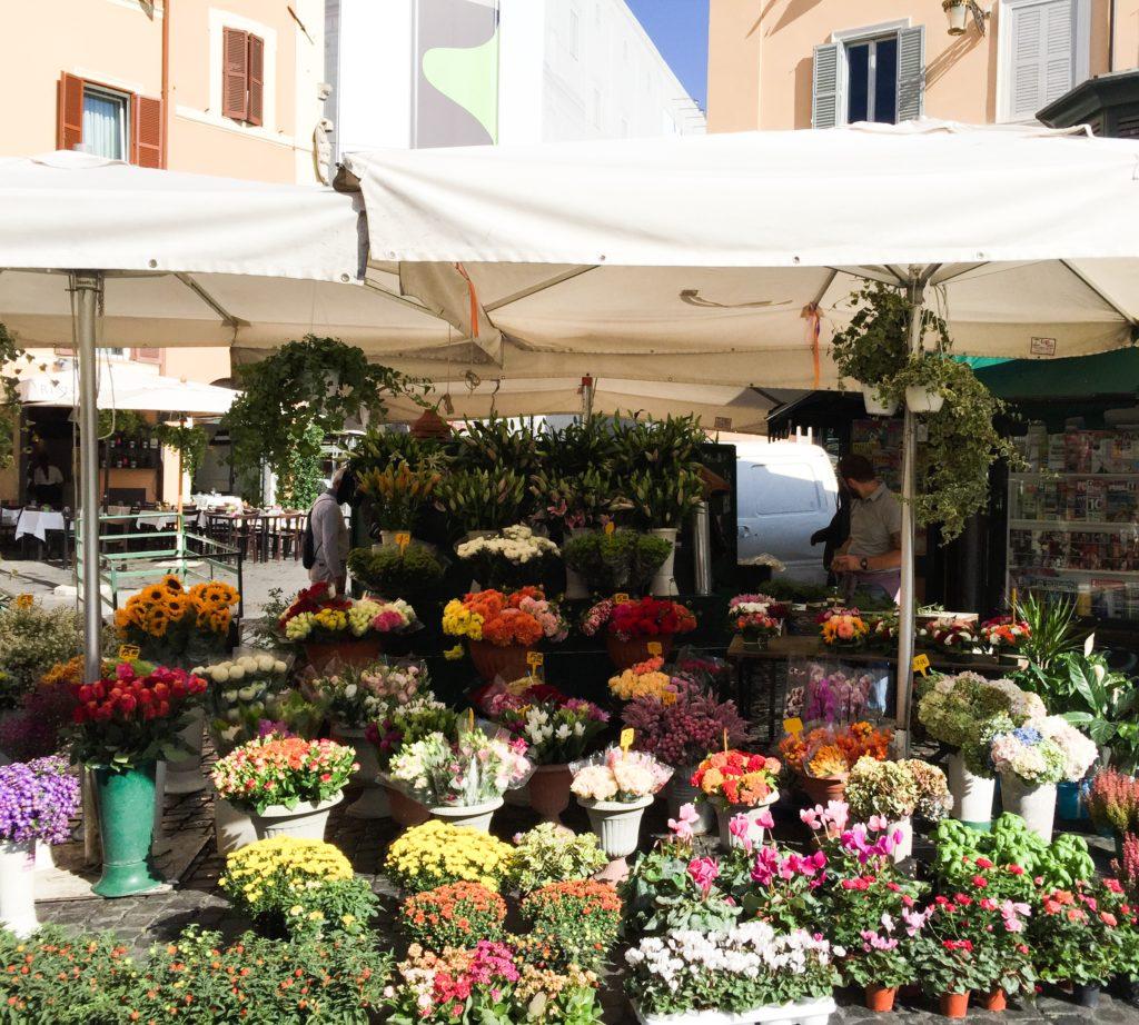 Morning market at Campo de'Fiori Rome