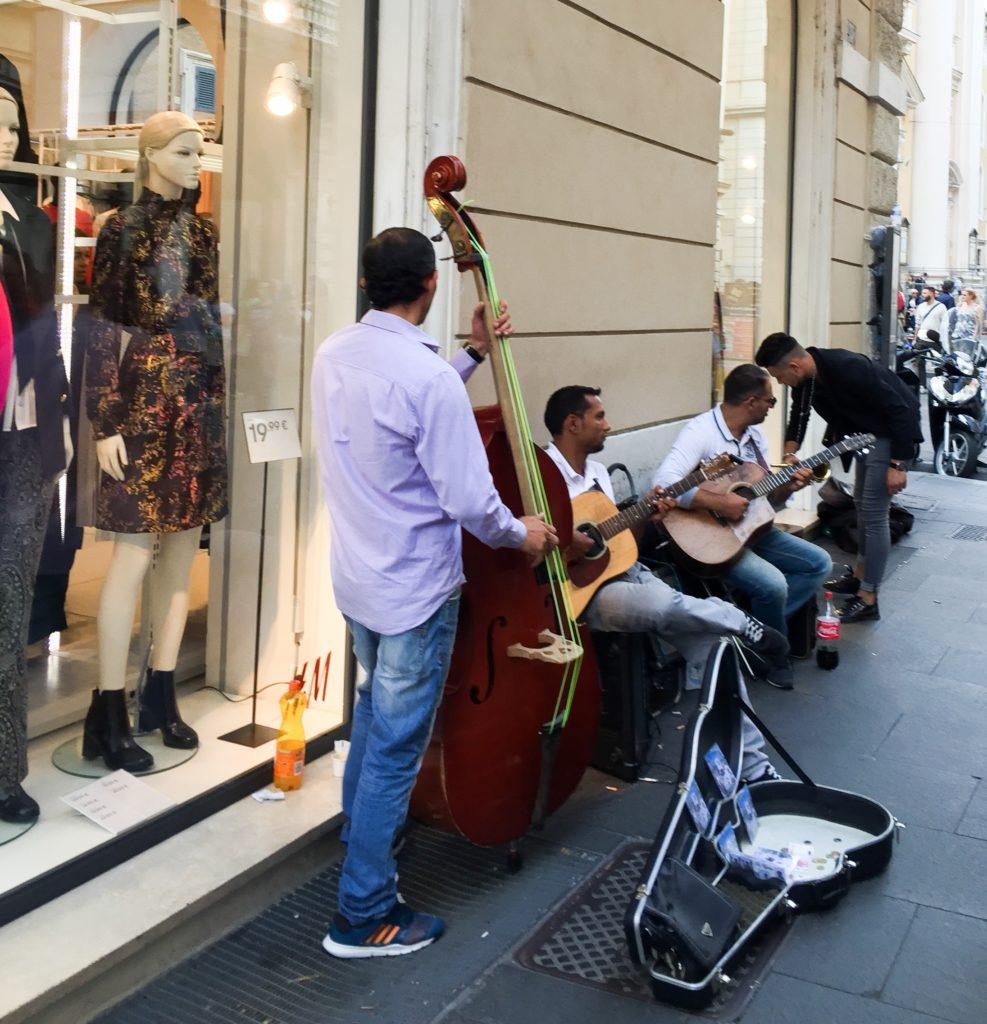 Street Musicians Via dei Corso Rome