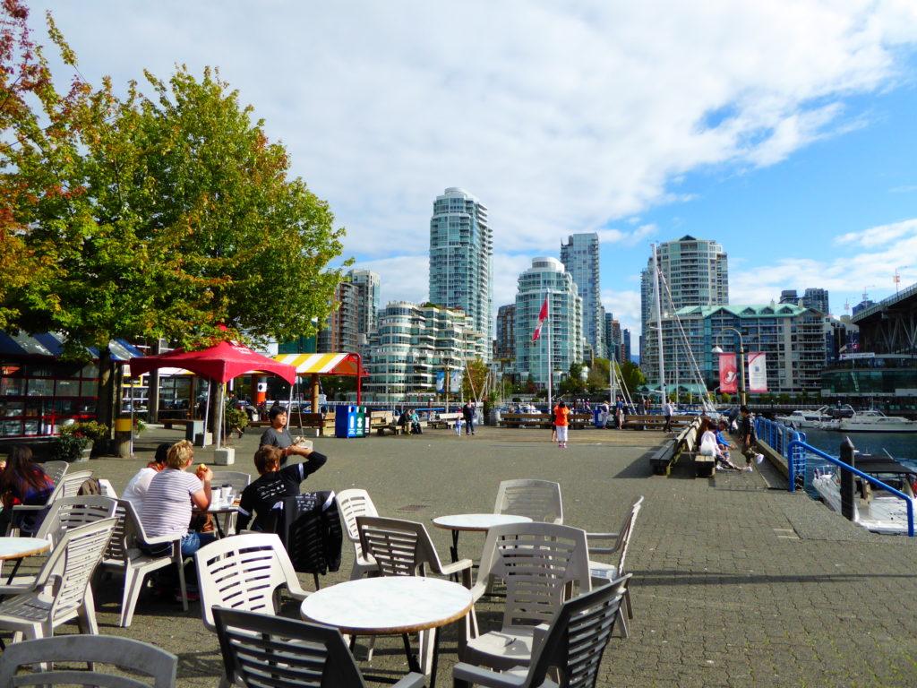 Patio Outside Granville Public Market Vancouver