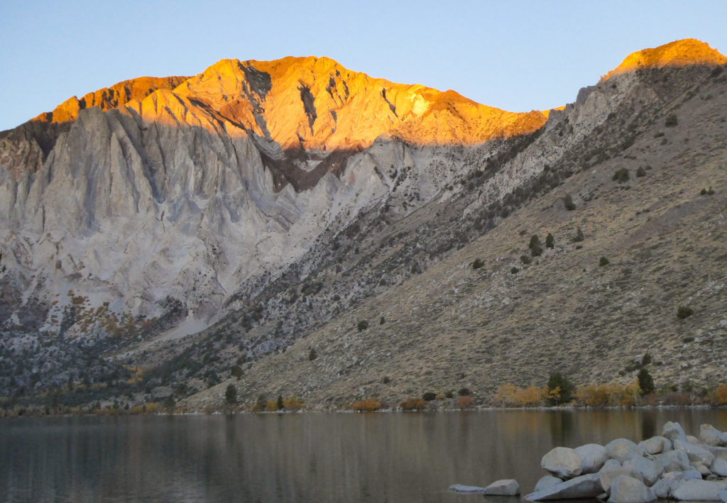 Sunrise at Convict Lake, Eastern Sierra