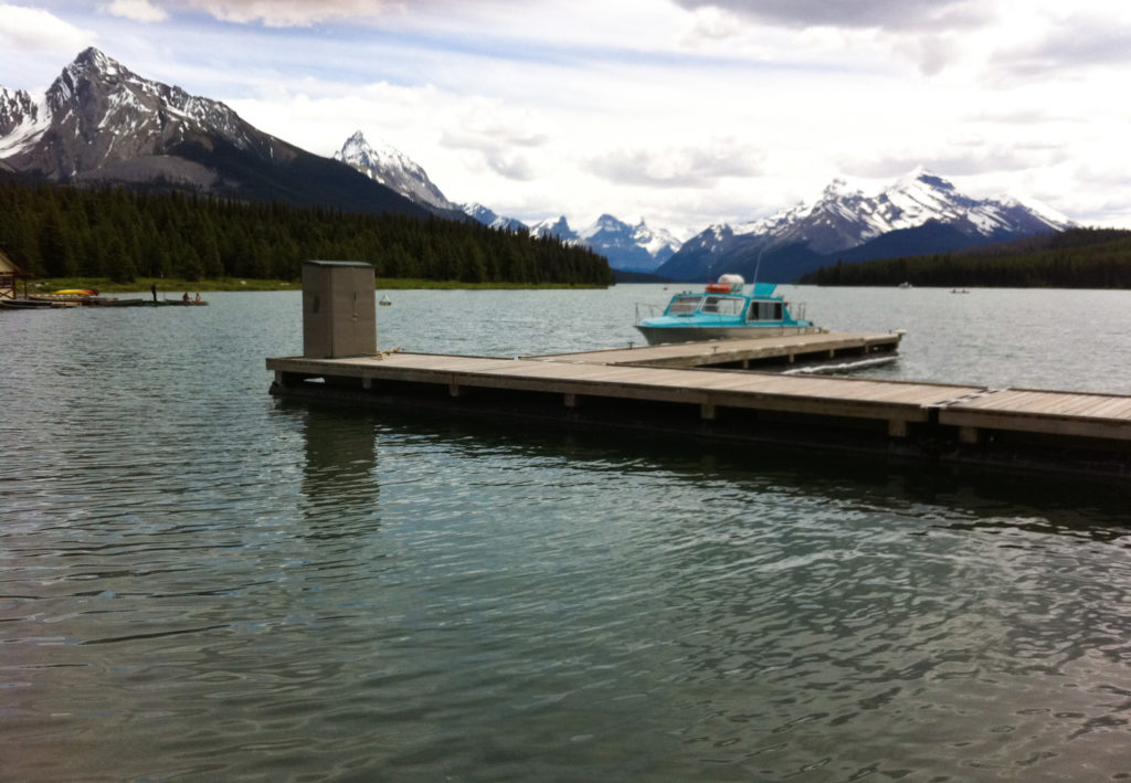 Cruise Boat on Maligne Lake in the Canadian Rockies