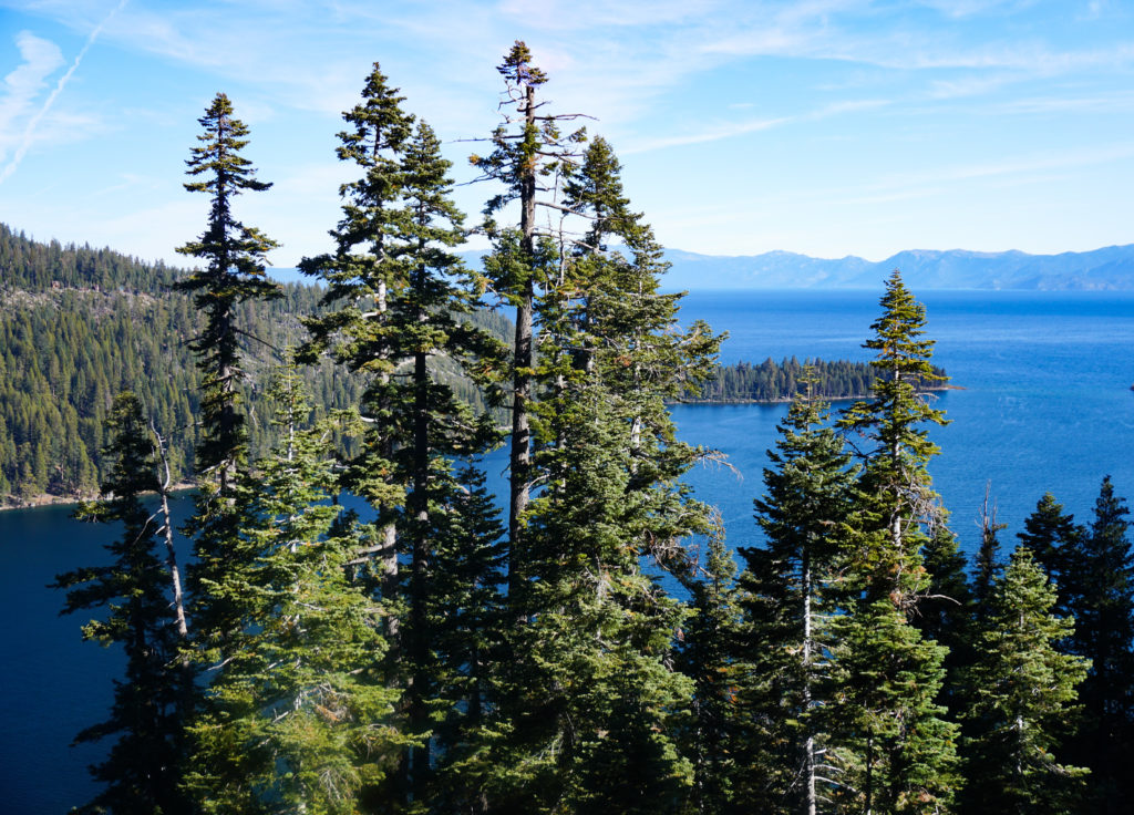 View from Inspiration Point Lake Tahoe