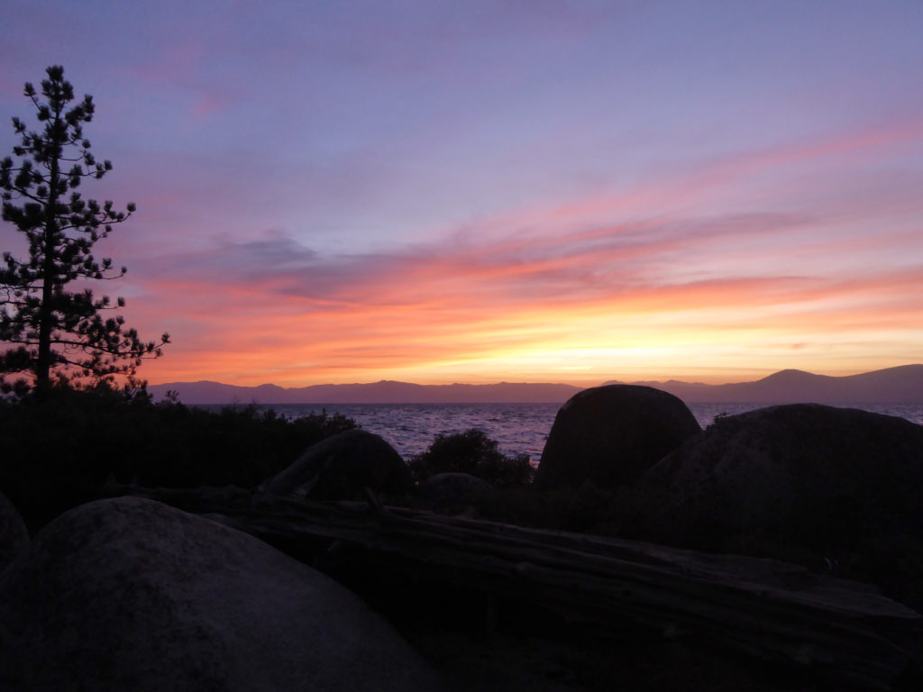 Sunset at Sand Harbor State Park, Lake Tahoe
