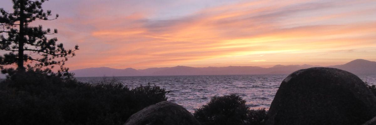 Sunset at Sand Harbor State Park, Lake Tahoe