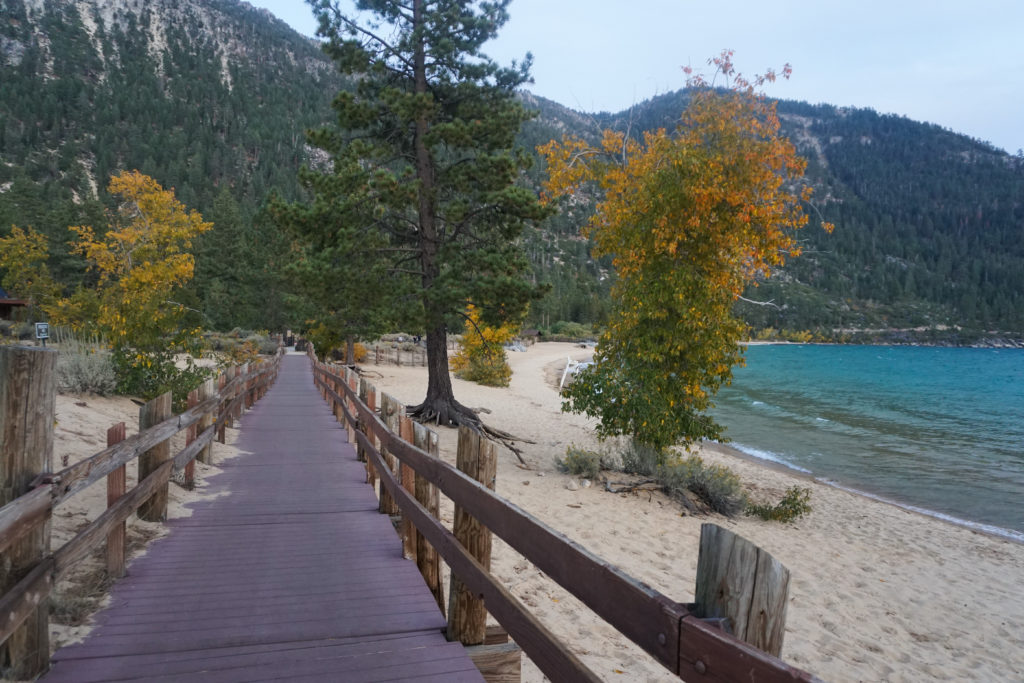 The Boardwalk Trail at Sand Harbor State Park in Lake Tahoe