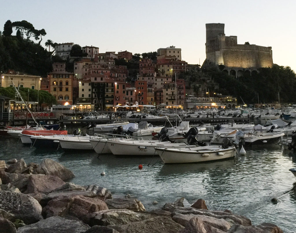 View from the waterfront at Lerici