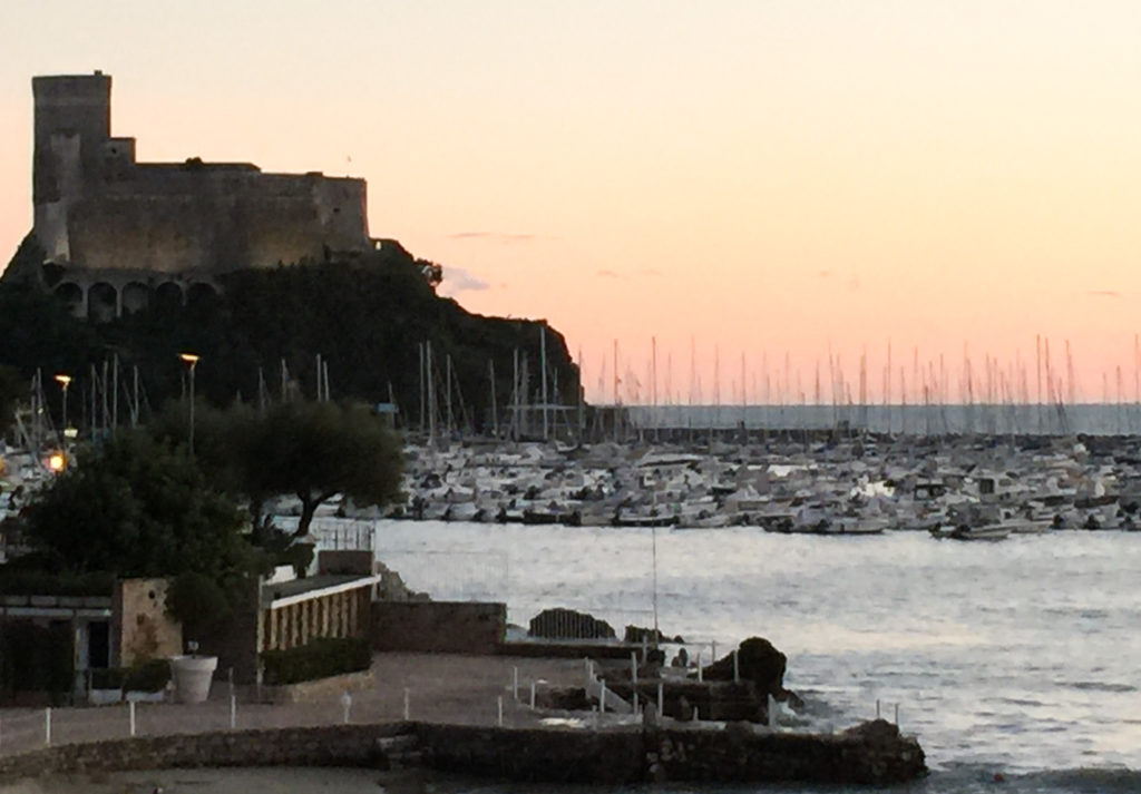 The castle on Lerici overlooking the Bay of Poets