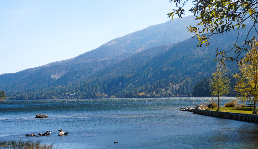 The second of the twin lakes at Bridgeport, California