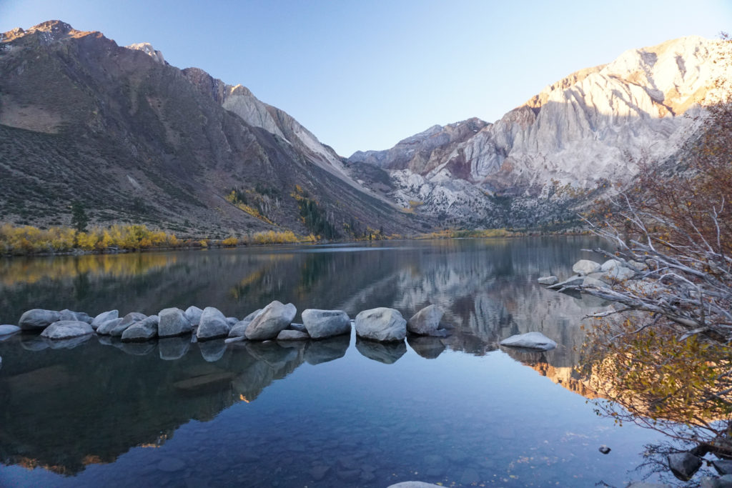 Sunrise at Convict Lake in the Eastern Sierra