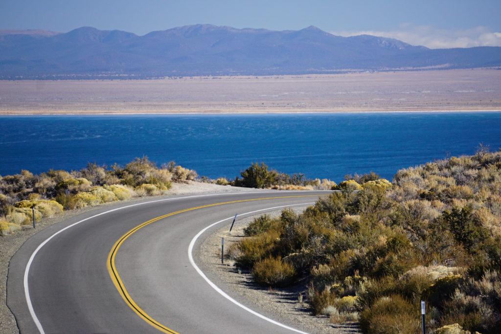 Road going down to the South Tufa Area of Mono Lake