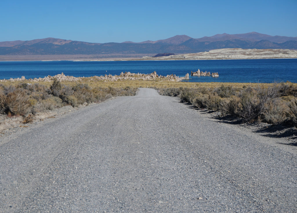 View of the South Tufa Area from unpaved access road