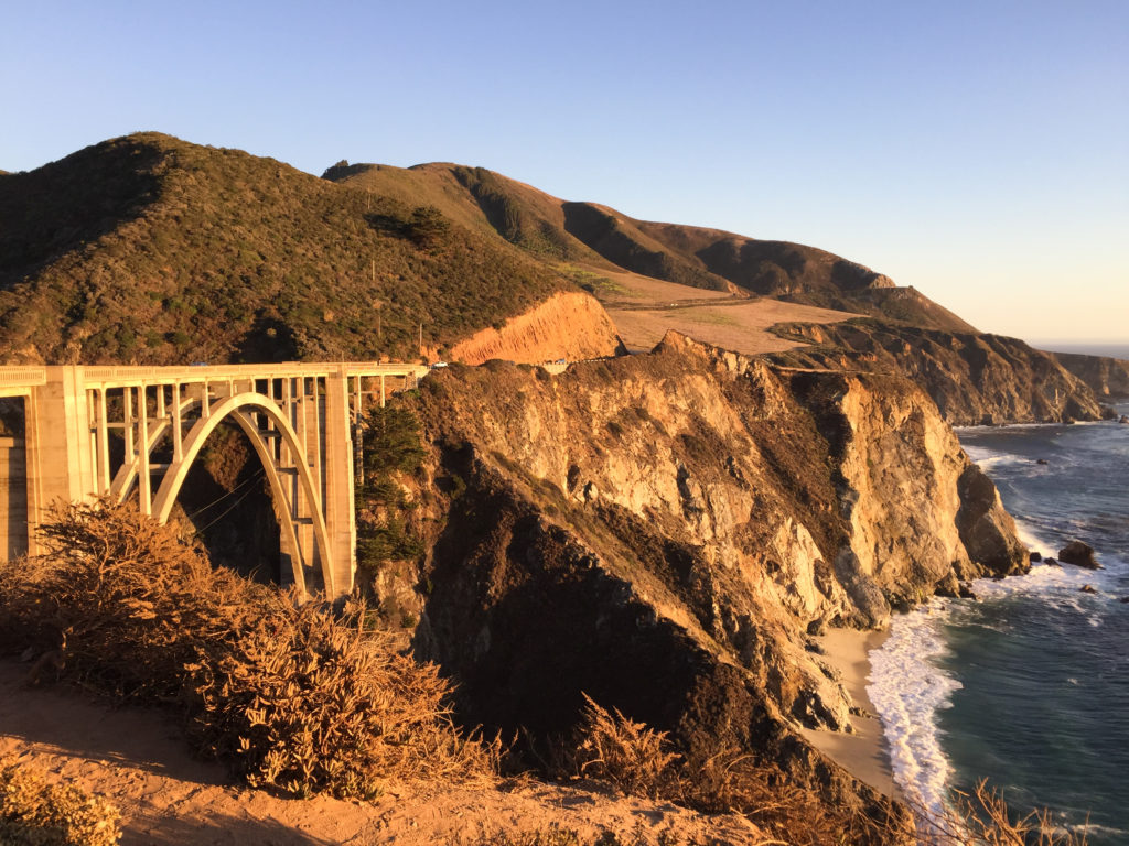 Bixby Creek Bridge at Big Sur on the Pacific Coast Highway