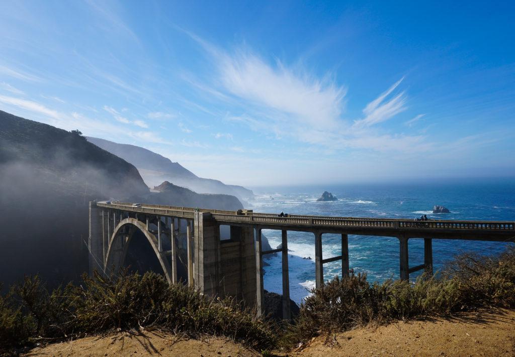 Bixby Creek Bridge at Big Sur on the Pacific Coast Hghway