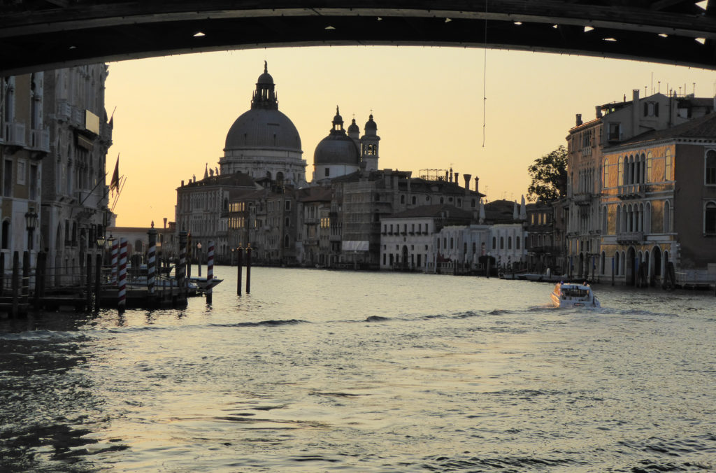Santa Maria della Salute from the Accademia Bridge in Venice