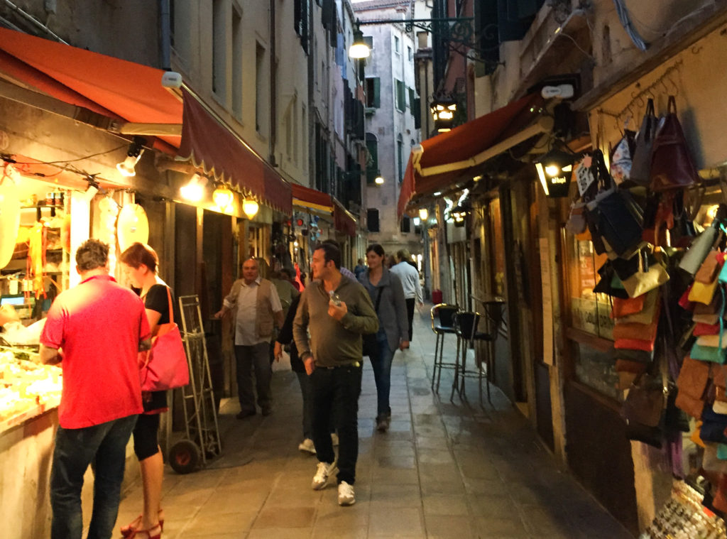 Alley near Rialto Bridge Venice
