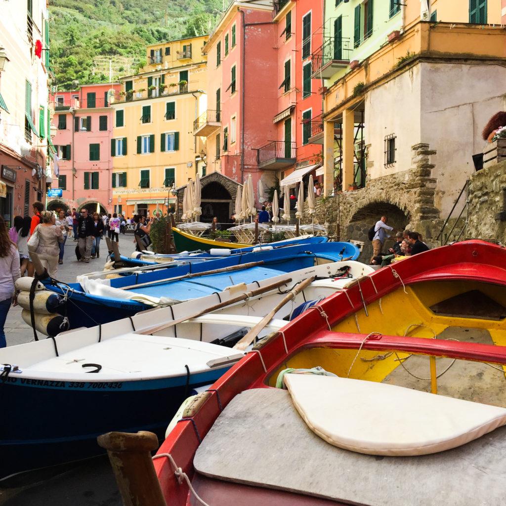Main Street Vernazza Cinque Terre Italy