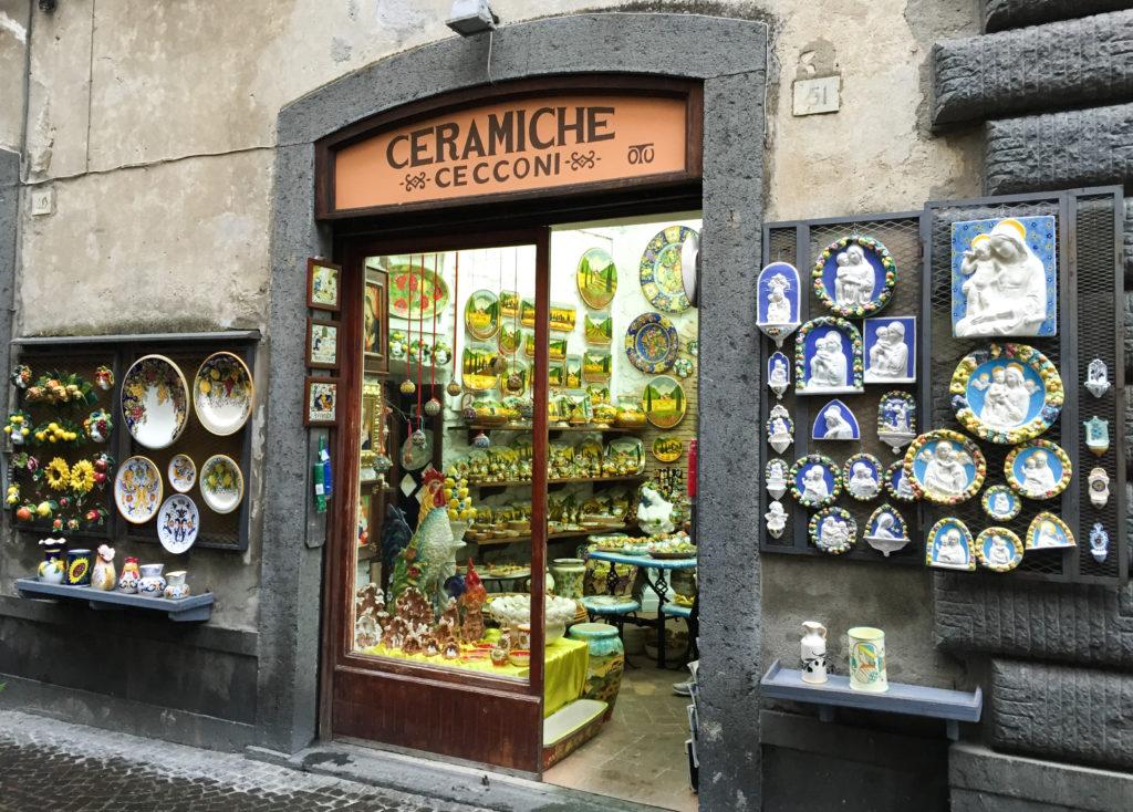 Ceramics Shop Piazza del Duomo Orvieto Italy