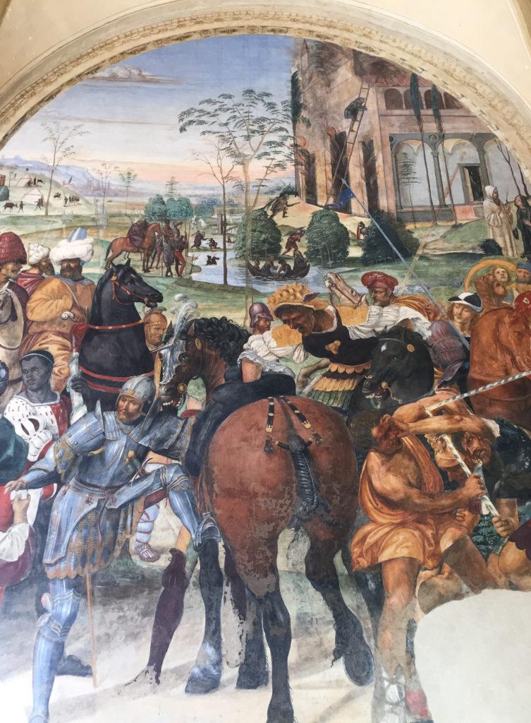 Frescoes in the Abbazia di Monte Oliveto Maggiore Tuscany Italy