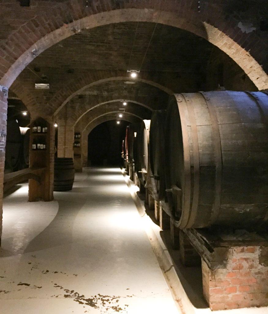 Wine cellar Abbazia di Monte Oliveto Maggiore Tuscany Italy