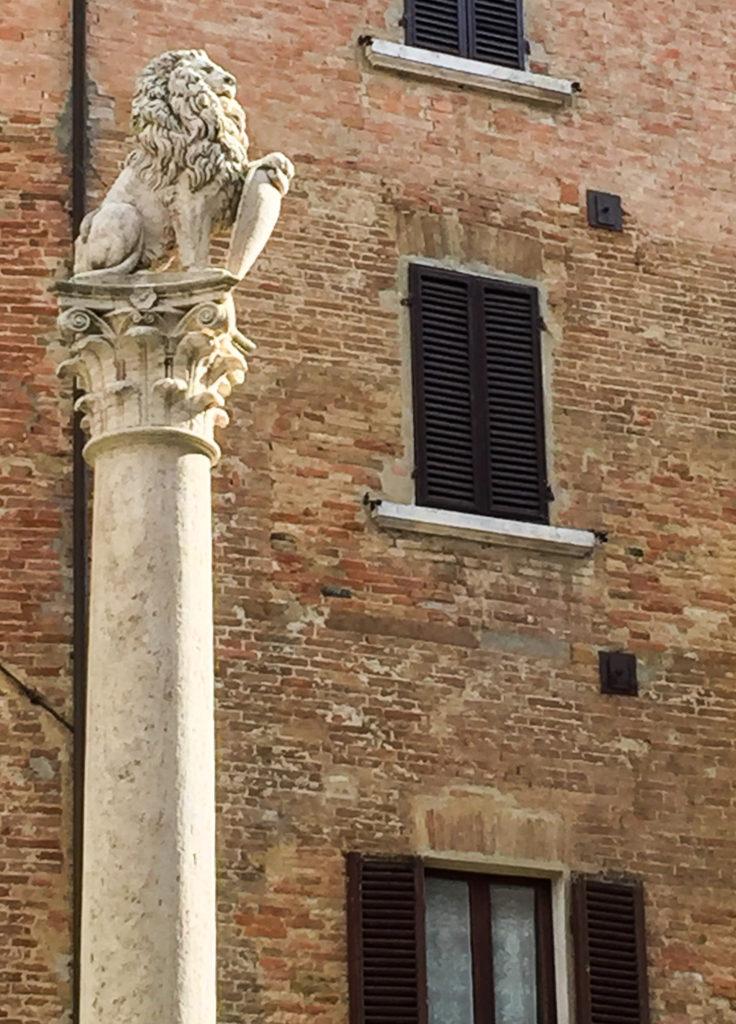 Colonna del Marzocco Montepulciano Tuscany Italy
