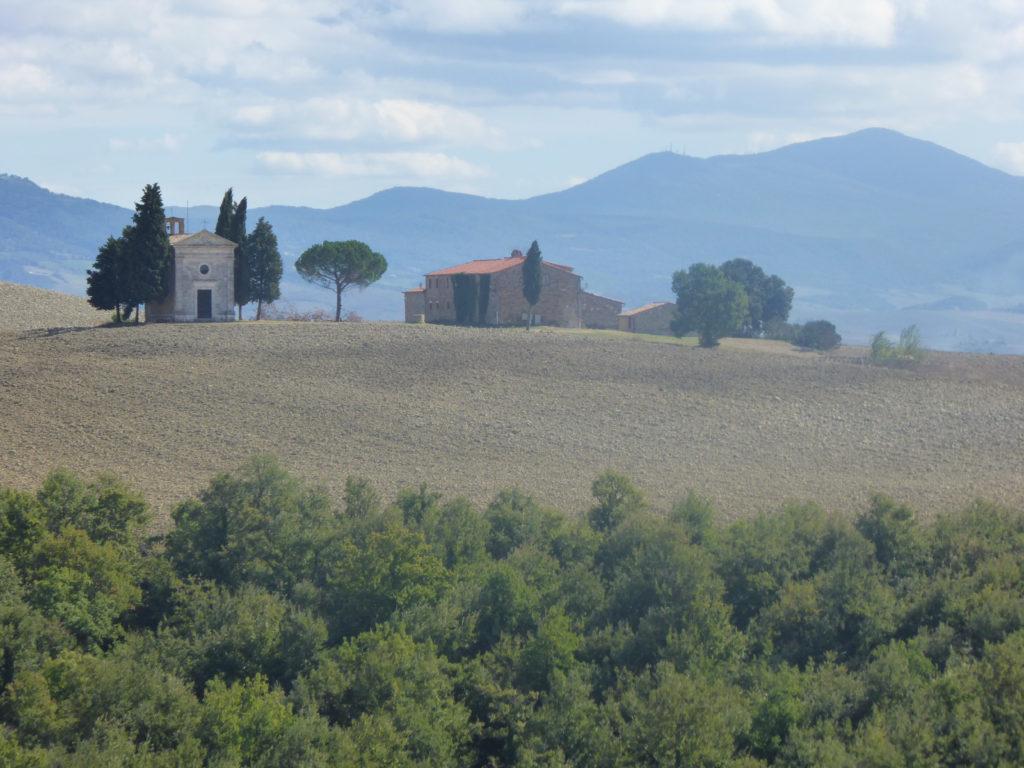 The Vitaleta Chapel Tuscany Italy
