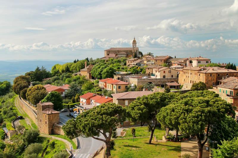 Montalcino in Tuscany, Italy