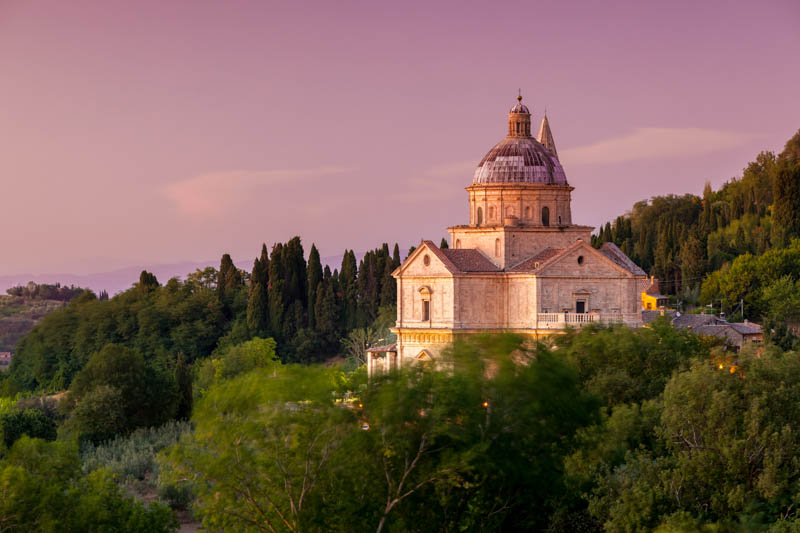 Basilica of San Biagio in Montepulciano in Tuscany Italy