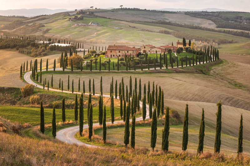 Landscape in the Val d'Orcia Tuscany Italy