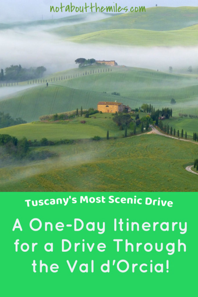 Read my post to discover the ultimate one-day itinerary for a drive through the Val d'Orcia in Tuscany, Italy!