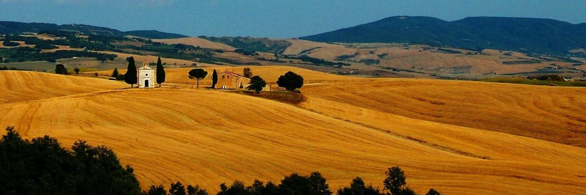 A Drive Through the Val d' Orcia in Tuscany, Italy