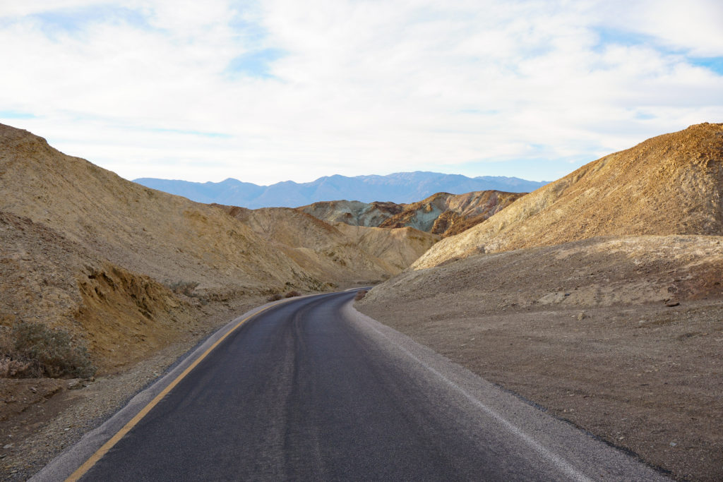 Artist's Drive in Death Valley National Park in California