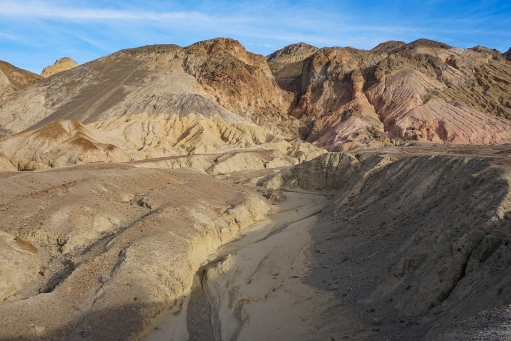 The Artist's Palette in the Black Mountains Death Valley National Park California