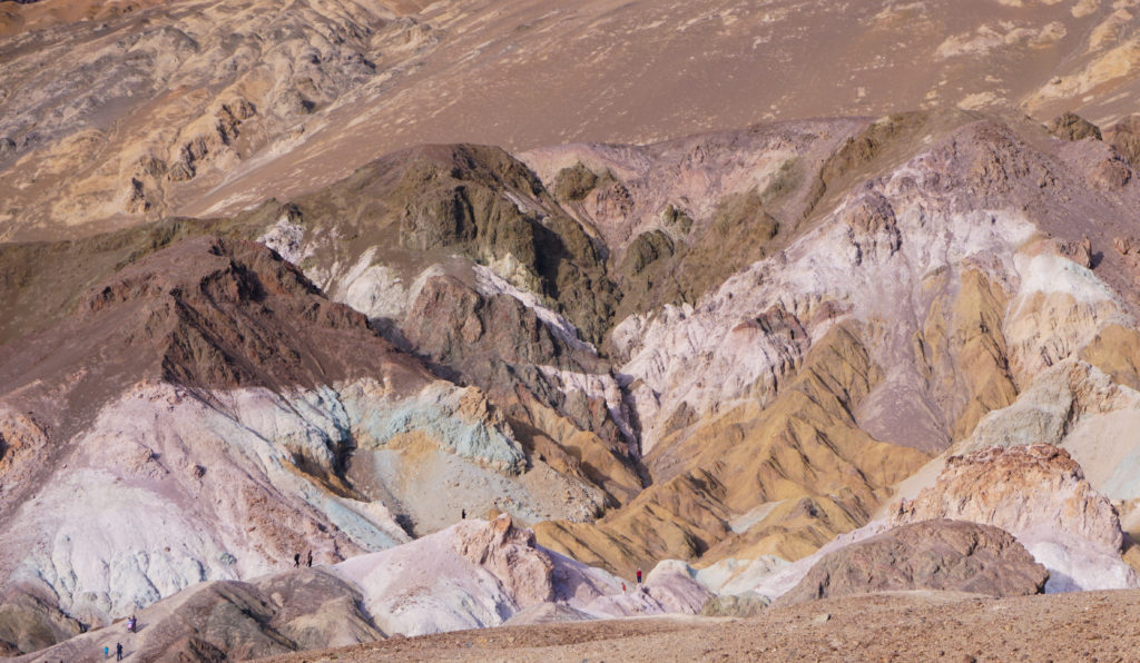 The Artist's Palette on Artist's Drive in the Black Mountains, Death Valley National Park California