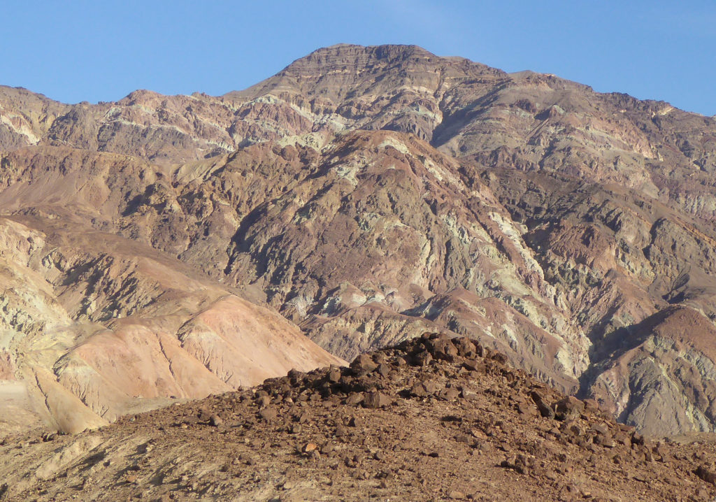 Colorful Rock Formations at Artist's Drive in Death Valley National Park in California