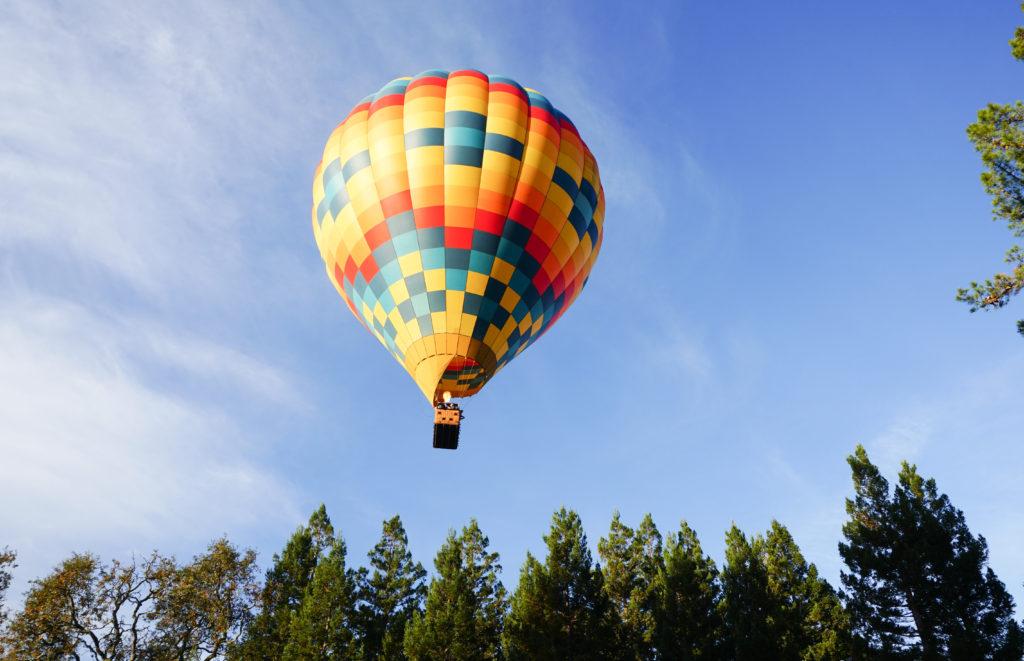 Hot air balloon Yountville Napa Valley California