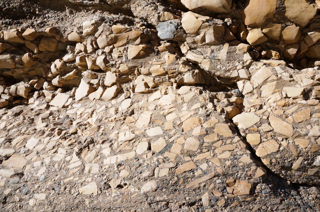 Mosaic Breccia at Mosaic Canyon in Death Valley National Park California