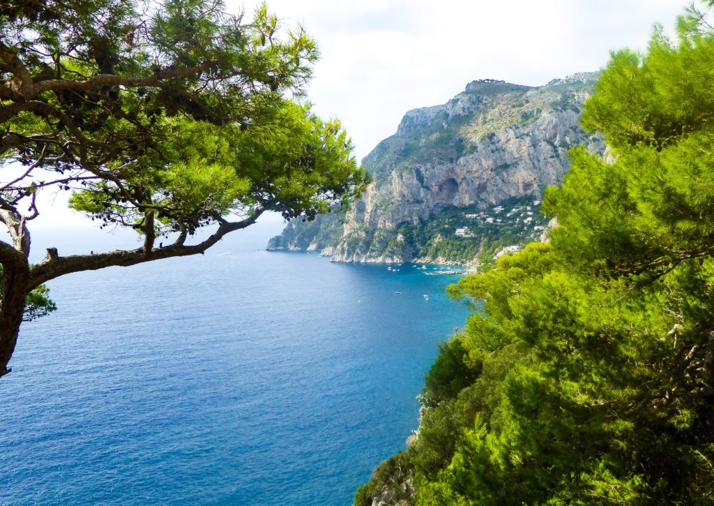 View from the pathway to the Punta Tragara in Capri, Italy