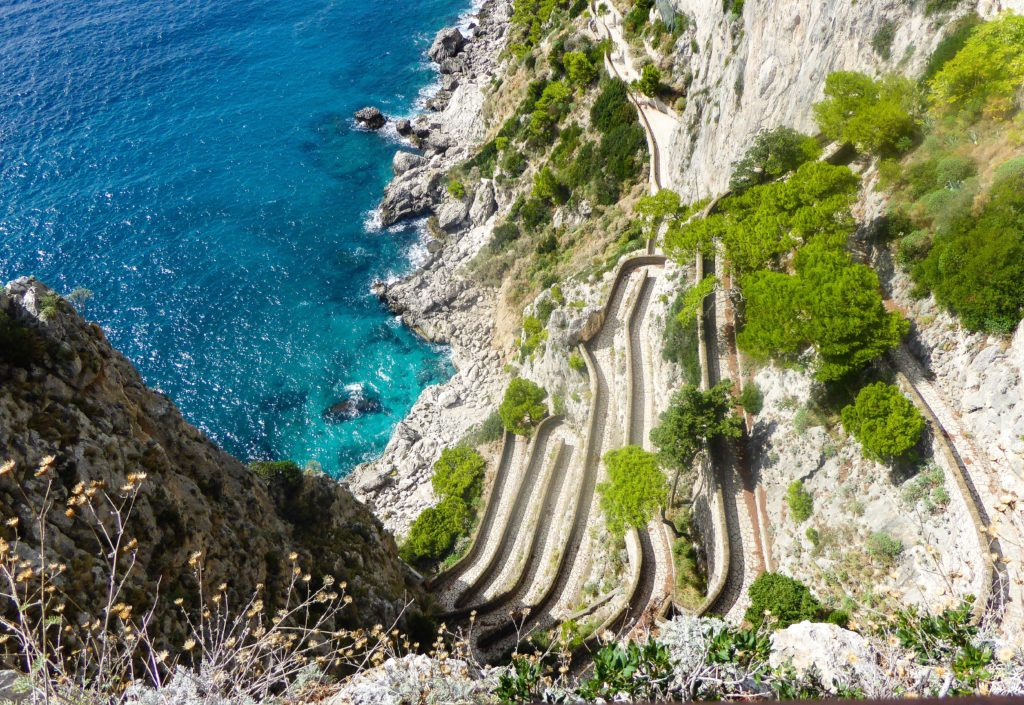 The Via Krupp on the Isle of Capri in Italy